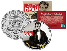 JAMES DEAN * REBEL WITHOUT A CAUSE * JFK Kennedy Half Dollar US Coin *LICENSED*