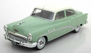 Buick 1953 Special 4 Door Tour Back Sedan Pale Green and White by BOS 1.18 scale