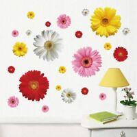 Bedroom Daisy Flower Wall Stickers Mural Sticker Decor Sticker Wall Decals