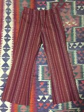 60s 70s VINTAGE LEVI'S FOR GALS BELL BOTTOMS FLARE PANT DISCO BOHO HIPPY 28X27.5