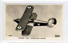 "(sd919-450) Real Photo, Hawker ""FURY"" Interceptor Fighter  Unused VG"
