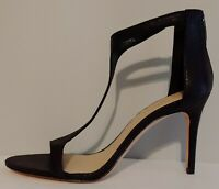 "NEW!! Imagine Vince Camuto Black T Strap Sandals 4"" Heels Size 10M US 40M EUR"