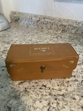 KIWI VINTAGE Shoe Shine Compact Kit w/ Horsehair Brushes & CLOTH - Vinyl Case