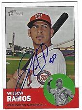 Autographed 2012 Topps Heritage 94 Wilson Ramos Washington Nationals Tough Sig