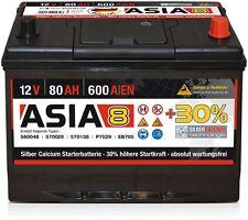 Starterbatterie Panther ASIA 8 12V 80Ah 600A ersetzt 70Ah Silber-Calcium