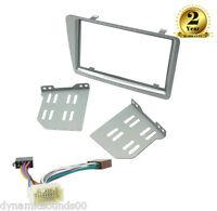 CD Double Din Facia Fascia Panel Silver Full Kit For Honda Civic EP2 EP3 01-06