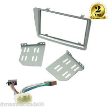 CD Double Din Facia Fascia Panel Silver Full Kit For Honda Civic EP2 EP3 01-06