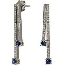 Dangling Earrings Diamond Earrings Long Earrings Sapphire Earrings In 14k Gold