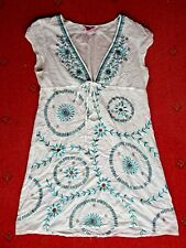 Women's Monsoon summer Tunic/Top with embroidery and beading, size 14