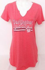 NEW Washington Nationals MLB Concepts Sport Red SS Nightgown Pajamas Women's M
