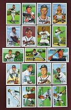 BOSTON BRAVES 1951 Bowman Gum Team REPRINT Set | ALL 19 different cards | EX/EX+