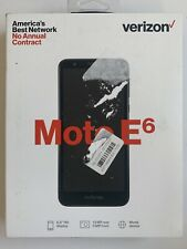 "Verizon Prepaid Cell Phones Motorola Moto E6  5.5"" Screen 16GB Smartphone Black"