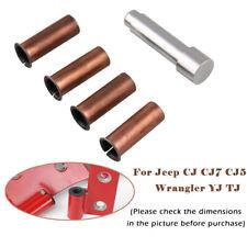 Door Hinge Pin Liners Bushings Kit for Jeep CJ CJ7 CJ5 Wrangler YJ TJ