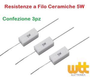 3pz Resistenza 39 Ohm 5W Resistore Resistenza Ceramica a Filo 5%