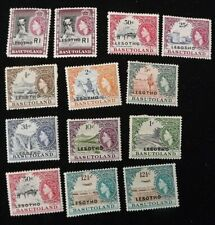 Basutoland 1961 COLLECTION  MMINT 13 STAMPS