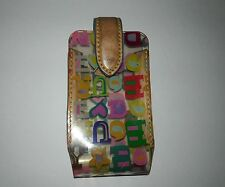 Dooney and Bourke Clear Plastic Cell Phone Case With Multi-Color Crayon Graffiti