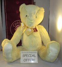 In metà prezzo! Charlie Bears dapprima grandi Custard GIALLO (nuovo di zecca!)