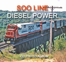 Soo Line Railraod Diesel Locomotives CD book