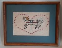 Carousel Horse Finished Counted Cross Stitch