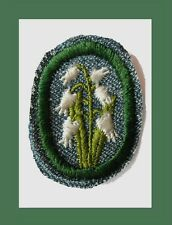LILY OF THE VALLEY Girl Scout TROOP CREST 1947 Only, RARE, Replaced in 1948