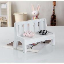 Mini Dollhouse Miniatures Wooden Garden Outdoor Couch Bench Furniture Park