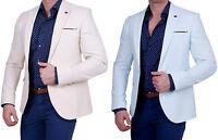 Herren Sakko Einknopf Slim-Fit Blazer Hahnentritt Muster Casual Jackett Anzug