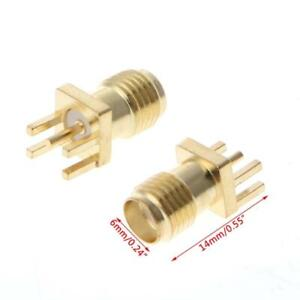 10 Pcs SMA Female Jack Solder Edge 1.6mm Space PCB Mount Straight RF Connector