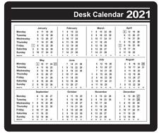 Computer Mouse Mat 2021 Printed Calendar Full Year Planner