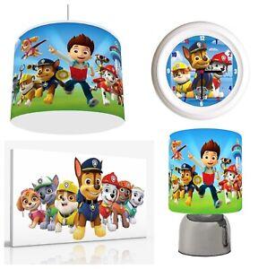 PAW PATROL - Light Shade , Touch  Lamp, Wall Art, Wall Clock or Bundle free p&p