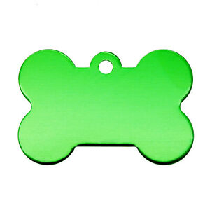 10 pcs Bone Shaped Blank Tags Metal Name ID Tag For Cats Dogs Pet Collar Charms