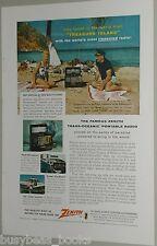 1956 Zenith TRANS OCEANIC advertisement for ZENITH Trans Oceanic shortwave radio
