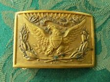 INDIAN WARS EAGLE AND WREATH OFFICER'S BELT BUCKLE