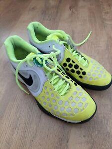 Nike Air Max Court ballistec 4.3 Volt Green White Gym Shoes Tennis Size UK 5