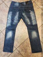 ETO JEANS SIZE 34×31 DESTROYED DISTRESSED 9901 UK JEANS SUPER NICE CONDITION
