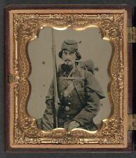 American Civil War Union Soldier & Musket North 1861 USA 6x5 Inch Reprint Photo