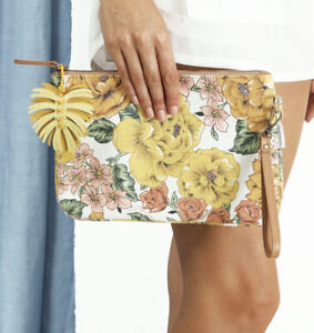 Zimmermann Printed Clutch, Sunshine Floral, RRP $195, With Tags
