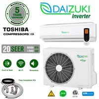 9000 BTU Air Conditioner Mini Split 19 SEER INVERTER AC Ductless Heat Pump 220V
