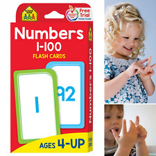 Kids Toddlers Numbers 1-100 Flash Cards Recognition Count Match Sequence