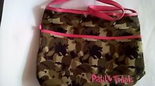 PAUL FRANK GREEN CAMOUFLAGE SHOULDER BAG PINK TRIMS MONKEYS