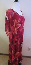Lucky Brand Woman's Sz S Shannon Tropical Print Maxi Dress 7W40933