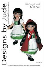 """Riding Hood Doll Clothes Sewing Pattern for 10"""" Patsy & Ann Estelle Tonner"""