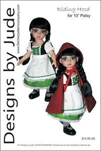 "Riding Hood Doll Clothes Sewing Pattern for 10"" Patsy & Ann Estelle Tonner"