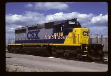 Original Slide CSX Transportation SD40-2 8888 -The Runaway Engine!!
