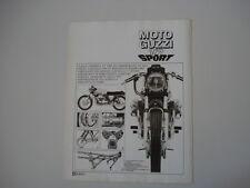advertising Pubblicità 1972 MOTO GUZZI V7 V 7 SPORT