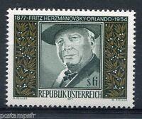 AUTRICHE, 1977, timbre 1376, FRITZ HERZMANOVSKY-ORLANDO, neuf**