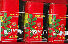 YERBA MATE ROSAMONTE - THREE 2.2-LBS PACKAGES - 6.12 LBS / 3 KILOS