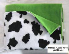 COW baby BLANKET fleece LIME car seat moses crib pram BN reversible