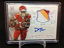2014 NATIONAL TREASURES DE'ANTHONY THOMAS AUTO 3 COLOR PATCH RC 10/25 CHIEFS SP