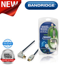 Bandridge 2M High Speed HDMI Cable with Ethernet HDMI Angled Left BVL1402