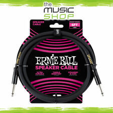 New Ernie Ball 6ft Black Speaker Cable with Straight Jack Ends - 6072